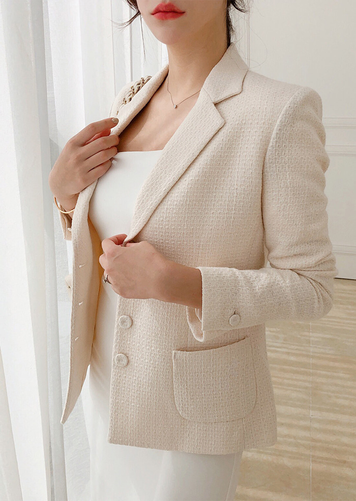 Tweed Jacket (Ivory)