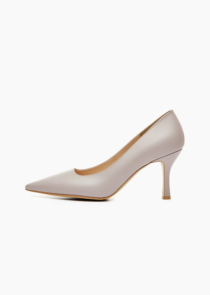 Grace Leather Heel (Grey)