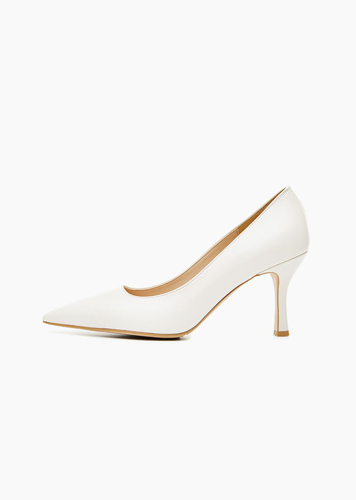 Grace Leather Heel (White)