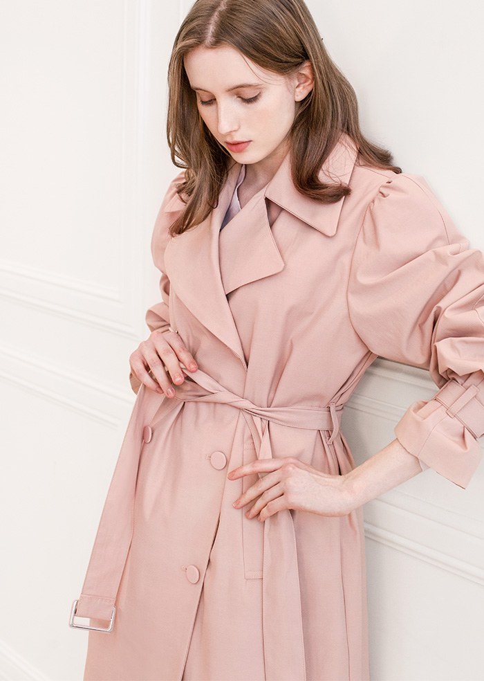 Spring Loose-fit Trench Long Coat (2color)
