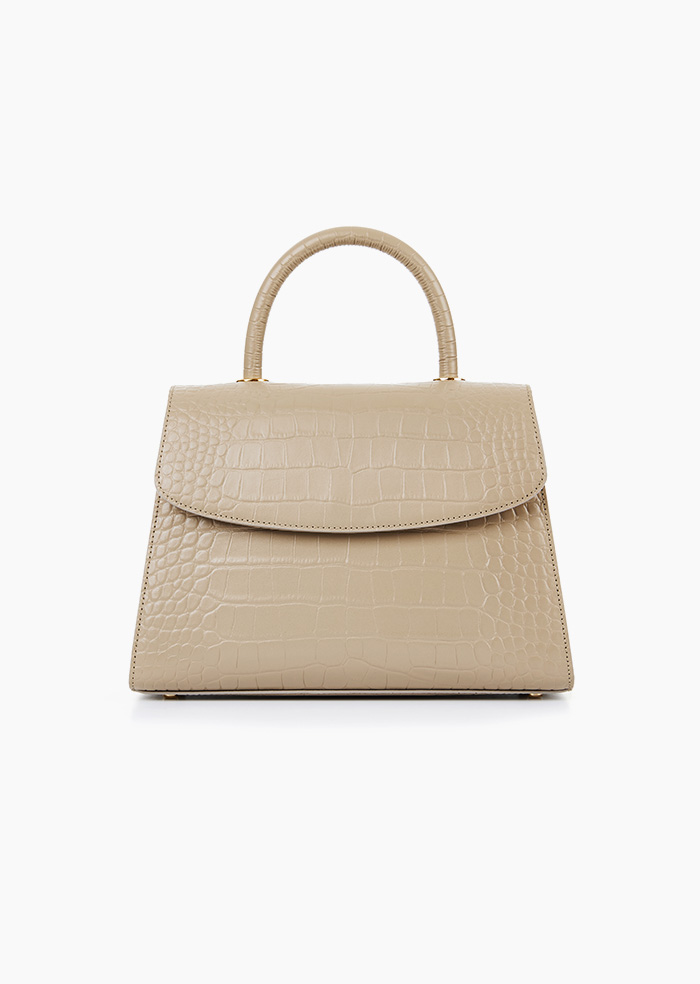 Grace Plie Bag (Beige)