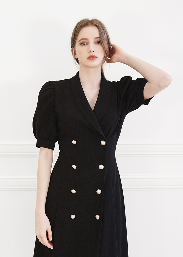 Double Jacket One-piece (Black)