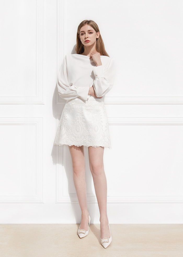 Wedding Short Skirt (White)