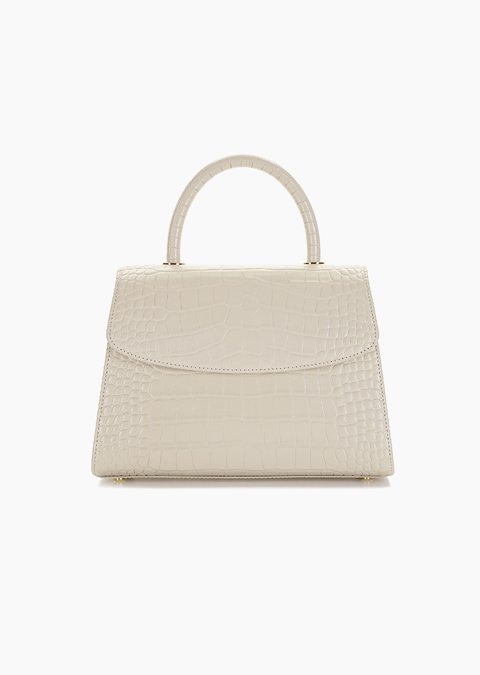 Grace Plie Bag (Light Beige)