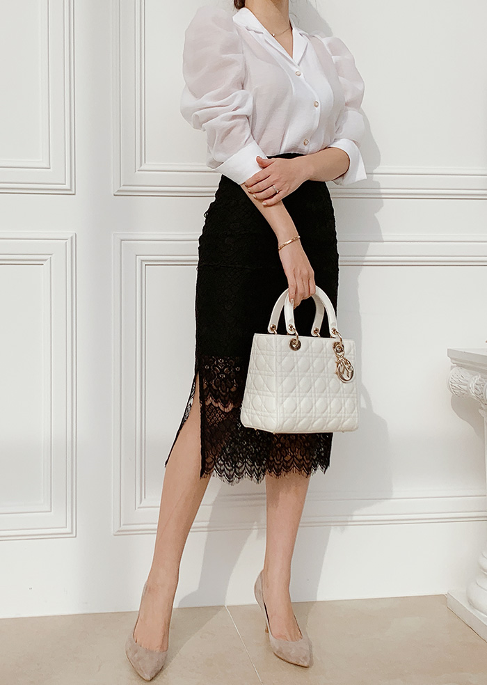 Lace Skirt (Black)