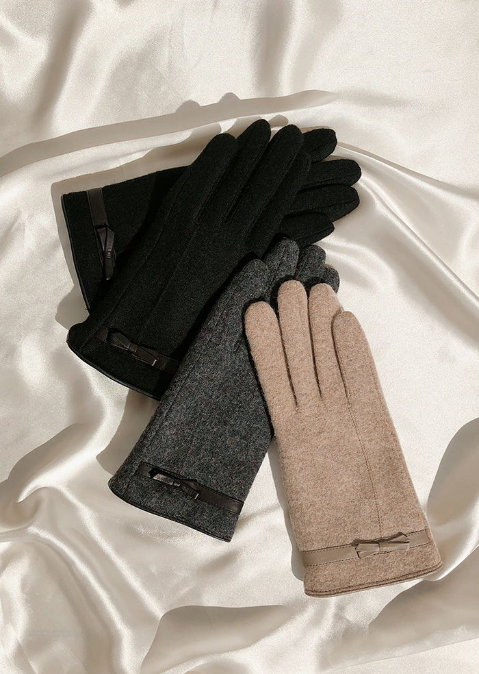 Ribbon Gloves (3color)